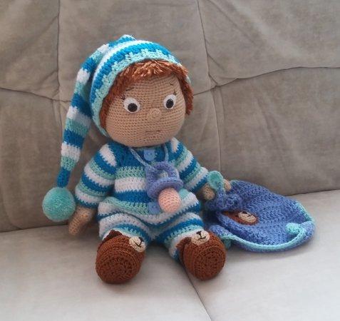 Puppe mit Schmusetuch + Mütze häkeln // DIY