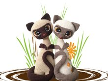 Siamese cats Max and Mixi Pattern Amigurumi PDF Deutsch - English - Dutch