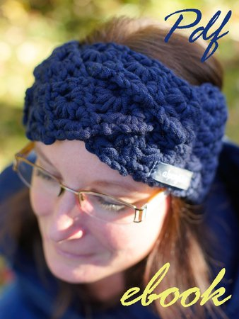 16 E Book Stirnband Blaue Sterne