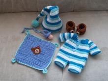 Puppenkleidung Häkeln Poncho Hut