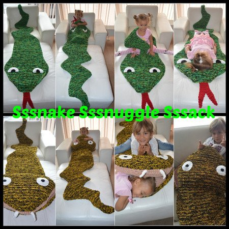 separation shoes 584cf f59c5 Sammy the Snake Snugglesack