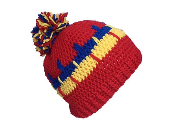 Mütze mit dekorativem Muster häkeln