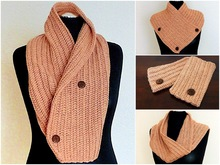 "Button Scarf & Pulse Warmers ""Winter Romance"" Crochet Pattern for Beginners"