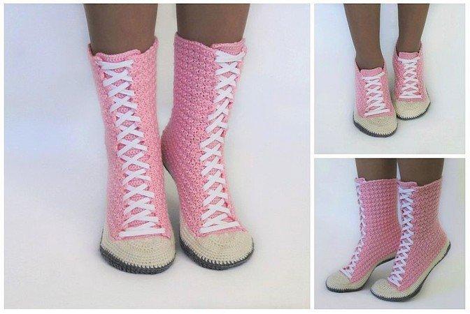 Crochet Pattern Sneaker Boots Sneakers Sizes 56 7 8 9 10 11