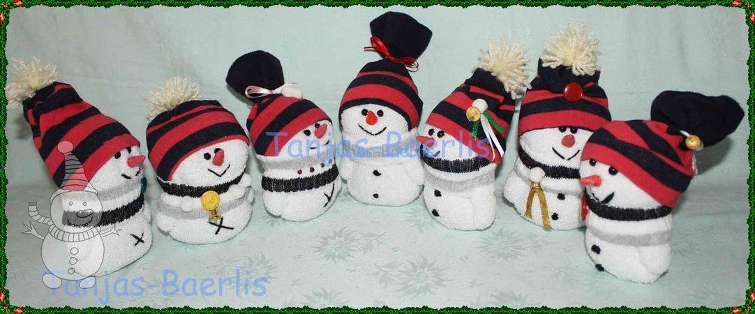 Süßer Schneemann aus der Socke