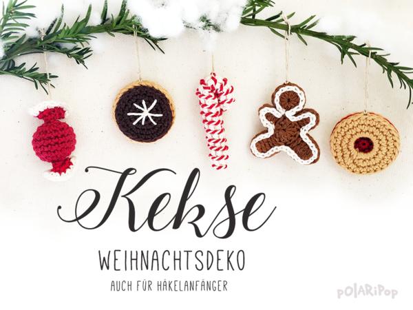 Weihnachtsdeko Lebkuchenmann.Weihnachtsdeko Kekse Plätzchen Cookies Set Mit 5 Teilen Häkelanleitung By Polaripop