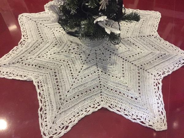 Deckchen Häkelnsternförmig Weihnachtsdeko