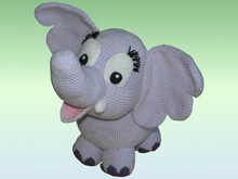 Crochet Pattern Elfi the elephant XXL