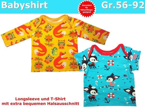 T-Shirt & Langarmshirt für Babys, Babyshirts - Schnittmuster ...