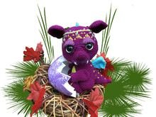 Dragonbaby Grumpy Pattern Amigurumi PDF Deutsch - English