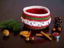 Basket Christmas Delight, Crochet Pattern