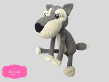 Amigurumi haakpatroon Wolf PDF tutorial in Nederlands, Duits en Engels