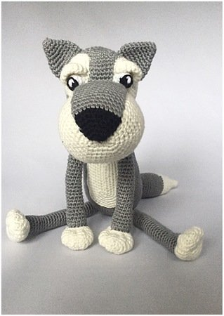 Boris the Wolf amigurumi pattern - Amigurumipatterns.net | 450x319