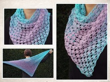 "crochet pattern triangle scarf ""iceflower"""