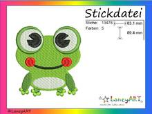 "Stickdatei ""Frosch"" Pes Format (Deco, Brother, Babylock)"