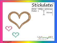 "Stickdatei ""Herzen"" Pes Format (Deco, Brother, Babylock)"