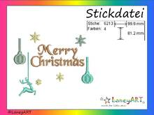 "Stickdatei ""Merry Christmas - Weihnachten"" Pes Format (Deco, Brother, Babylock)"