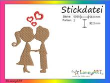"Stickdatei ""Paar - Love - Hochzeit"" Pes Format (Deco, Brother, Babylock)"