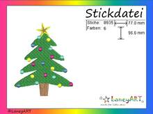 "Stickdatei ""Weihnachtsbaum - Christbaum"" Pes Format (Deco, Brother, Babylock)"