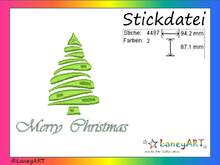 "Stickdatei ""Weihnachtsbaum - Merry Christmas"" Pes Format (Deco, Brother, Babylock)"
