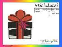 "Stickdatei ""Geschenk"" Pes Format (Deco, Brother, Babylock)"