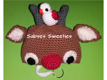 "Crochet instruction E-Book key cozy ""Deer"" #0010 Sabses Sweeties english"