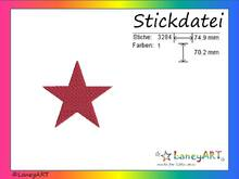 "Stickdatei ""Stern"" Pes Format (Deco, Brother, Babylock)"