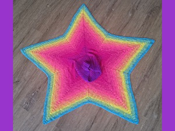 Harlekin - star shaped poncho