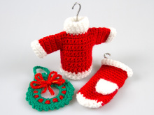 Amigurumi Doll Crochet Pattern Christmas Wreath Sweater