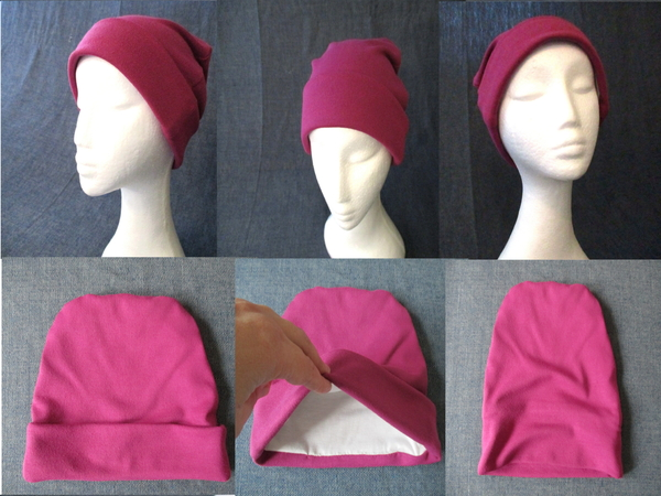 winter beanie with lining & cuff sewing pattern