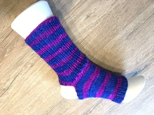 Strick-Anleitung Yoga-Pilates-Socken, super easy