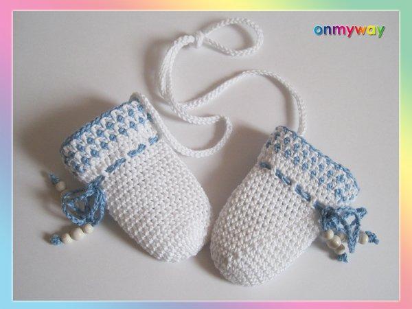 Häkelanleitung: Baby Fäustlinge mit Pompon häkeln (2 Größen: 0 - 1 ...