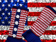 American Flag Crochet Slipper Socks Pattern
