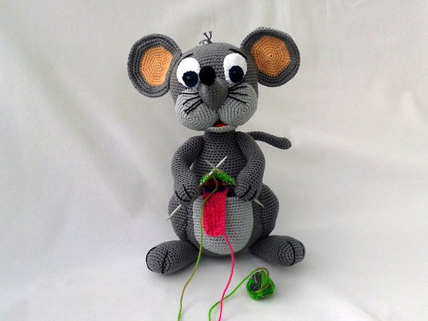 Amigurumi Rat : Science rules crochet candy corn rat pops de milk