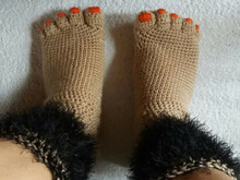"Crochet instruction E-Book Fun socks ""unshaving legs"" #0006 Sabses Sweeties english Eu size 38-39"