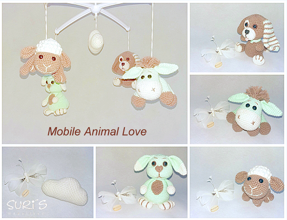 Häkelanleitung Mobile Animal Love