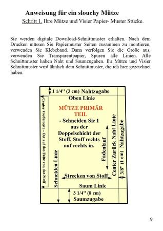 Zeitungsjunge Mütze, Schirmmütze Schnittmuster