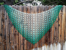 Fantastica*  crochet pattern, shawl pattern, charted, triangular shawl