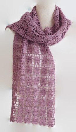 Free Crochet Wrap Easy, can be made with other yarn types