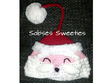 "Crochet instruction E-Book key cozy ""SANTA"" #0011 Sabses Sweeties english"