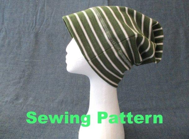men women boy girl beanie hat sewing pattern