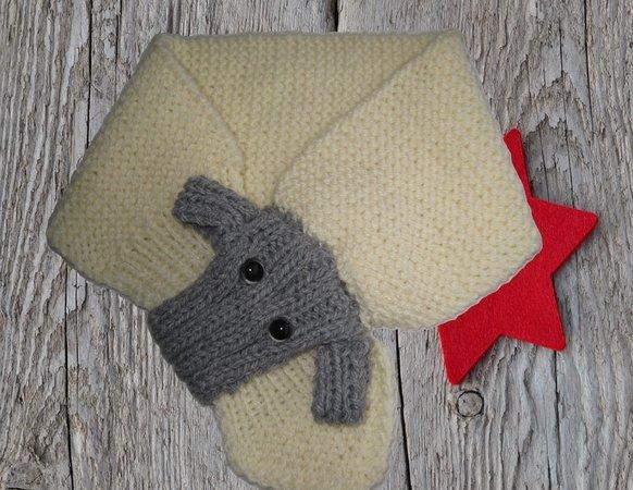 Strickanleitung Schal für Babys und Kinder mit tollem Schafmotiv für ...