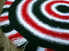 Christmas rug crochet pattern 058