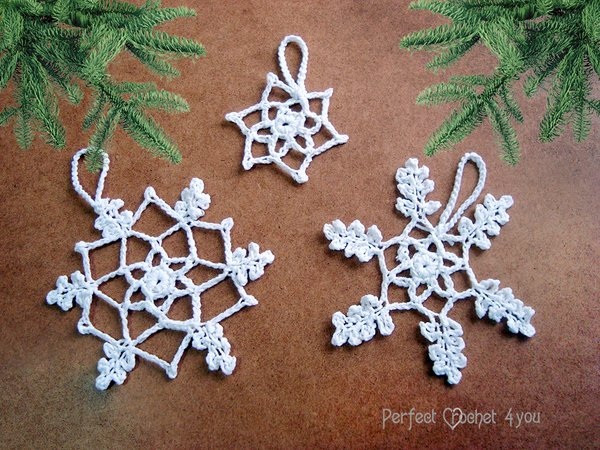 EASY Crochet Snowflake Pattern, Crochet Hanging Christmas