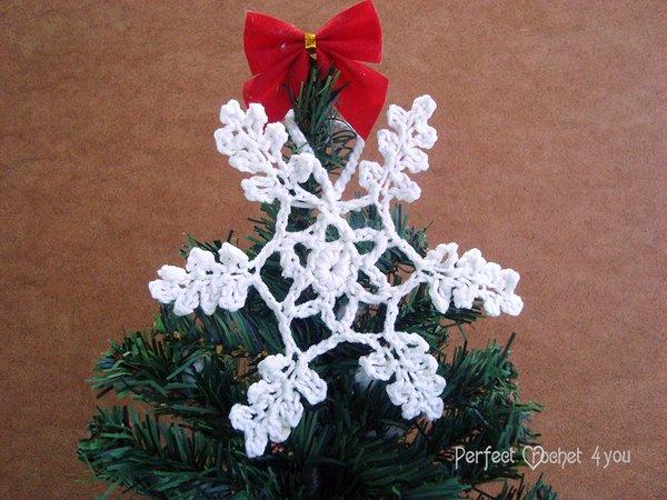 Easy Crochet Snowflake Pattern Crochet Hanging Christmas Tree