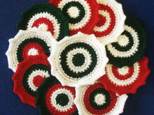 Christmas coasters crochet pattern 008