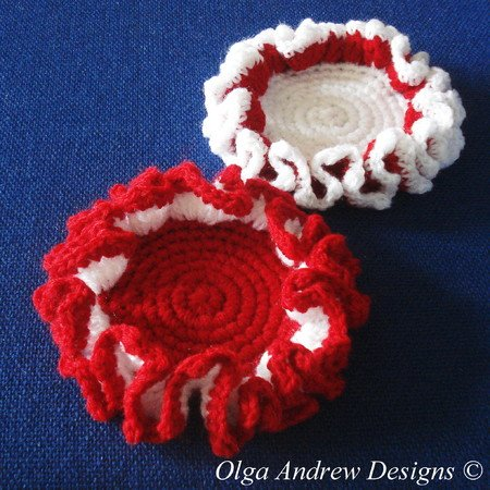 Christmas Coasters Crochet Pattern 014