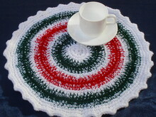 Christmas doily/rug/chair seat crochet pattern 038