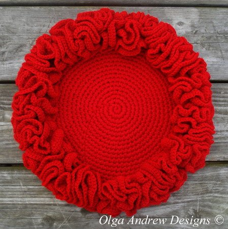 Large Christmas ruffle doily crochet pattern 081