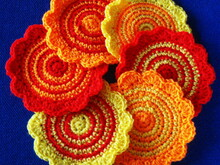 Round coasters crochet pattern 054